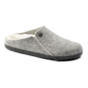 Birkenstock Zermatt Wool Felt Slippers - Light Grey