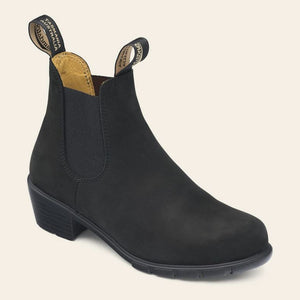 Blundstone 1960 Heeled Chelsea Boot in Black Nubuck