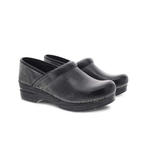 Dansko Professional Charcoal Distressed Clogs - Men's
