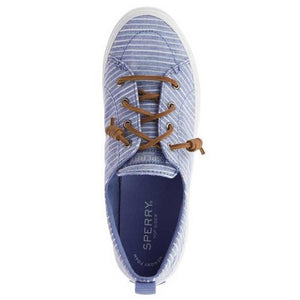 Sperry Crest Vibe Chambray Strip Blue-White - Women's