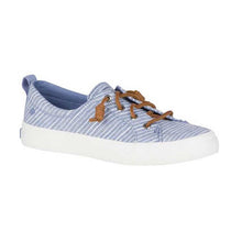 Load image into Gallery viewer, Sperry Crest Vibe Chambray Strip Blue-White - Women's