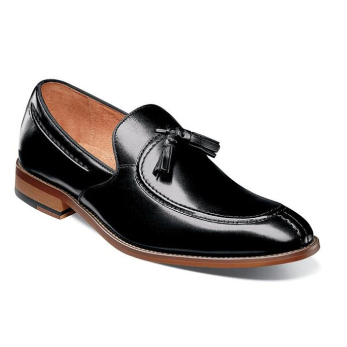 Stacy Adams Donovan Moc Toe Drop Tassel Dress Shoe - Men, Black