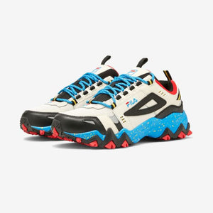 Fila Men's Oakmont TR Sneaker in Silver Black Blue - Men's
