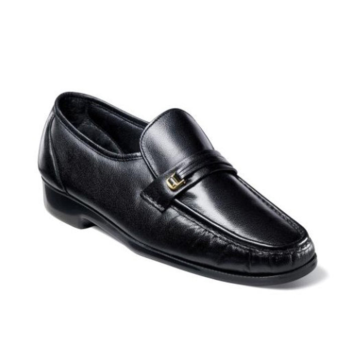 Riva Moc Toe Bit Loafer - Black