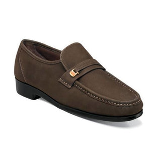 Florsheim Riva Moc Toe Bit Loafer-Brown Nubuck