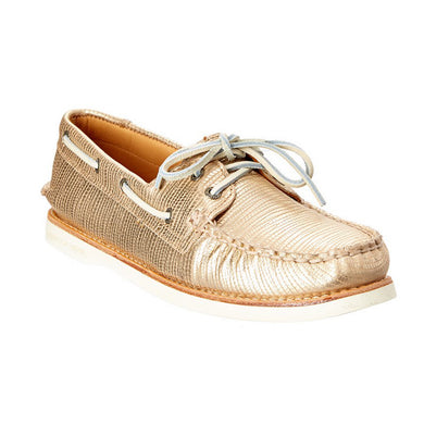 Sperry A/O Leather Boat Shoe, Gold - Women's