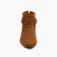 Load image into Gallery viewer, Minnetonka Back Zip Softsole Boot in Brown