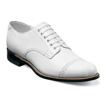 Load image into Gallery viewer, Madison Cap Toe Oxford-White