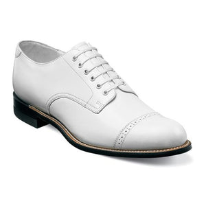 Madison Cap Toe Oxford-White