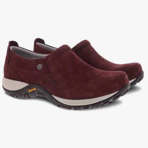 Dansko Patti Milled Nubuck Work Shoe - Women, Mahogany