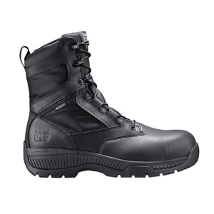 "Timberland Pro Valor Duty 8"" Side Zip Comp Toe Boots - Men, Black"