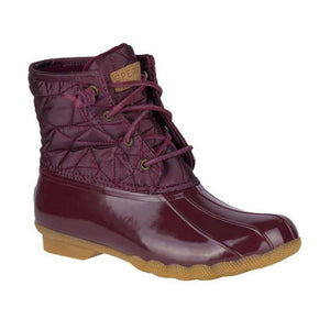 Sperry Saltwater Qulted Nylon Rain and Snow Boots - Women, Wine