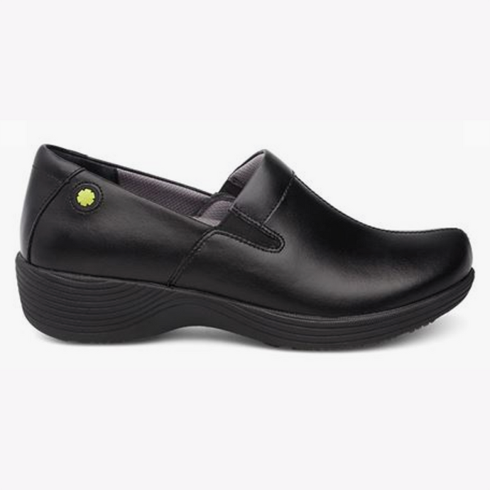 Nursing Clogs - Women, Black Leather