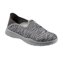 Load image into Gallery viewer, SoftWalk Simba Flat Walking Slip On - Women, Charcoal