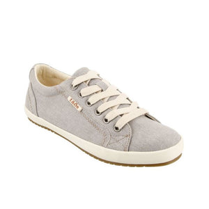 Taos Star Sneaker in Grey Wash Canvas - Women's