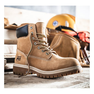 "Timberland Pro Direct Attach 6"" Steel Toe Boots - Women, Wheat Nubuck"