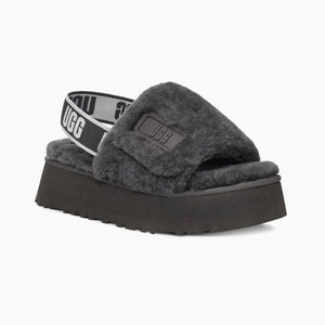Ugg Disco Slides in Dark Grey