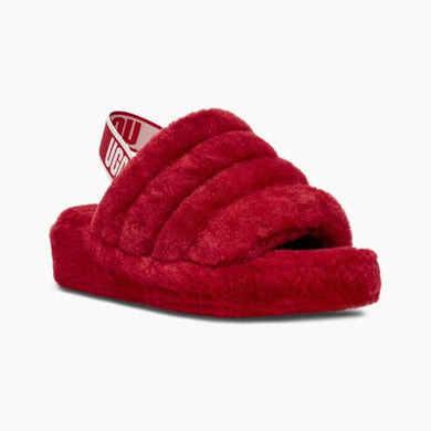 UGG Fluff Yeah Slide in Ribbon Red - Women's