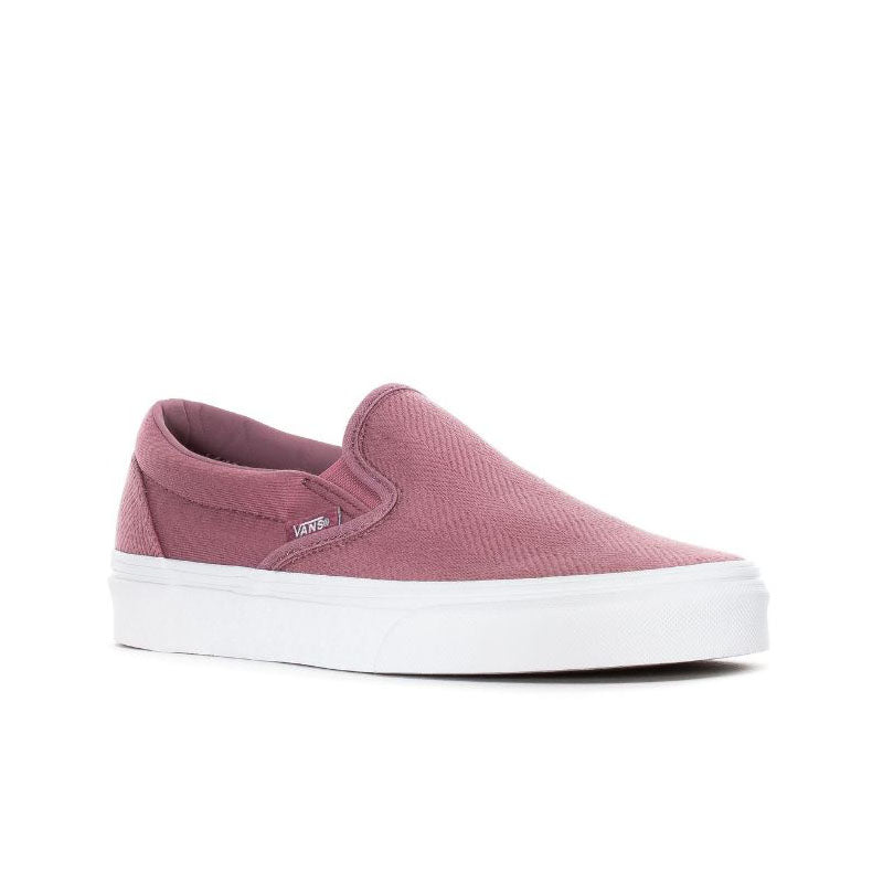 Vans Classic Slip On Herringbone Pink - Womens