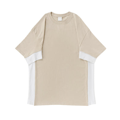 PRE_SW T-SHIRTS - sand / white