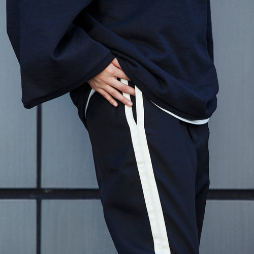 PRE_LINE TROUSERS - black/off white