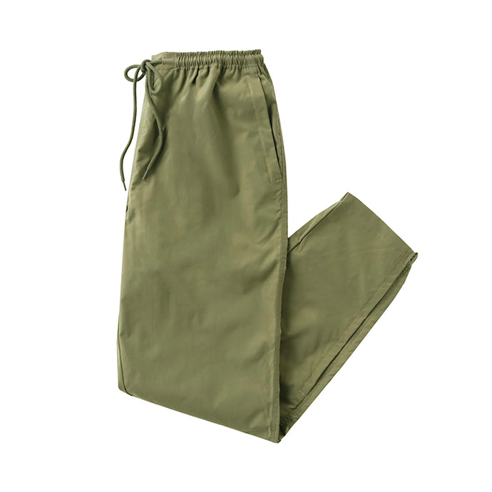 stretch zip pants - olive