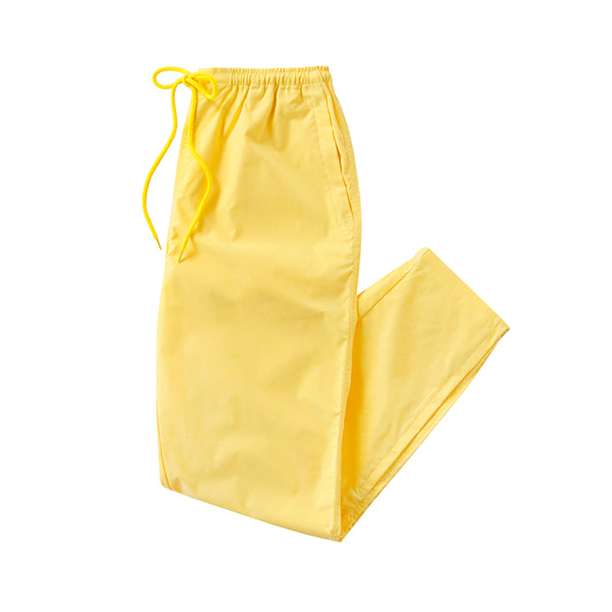 stretch zip pants - lemon