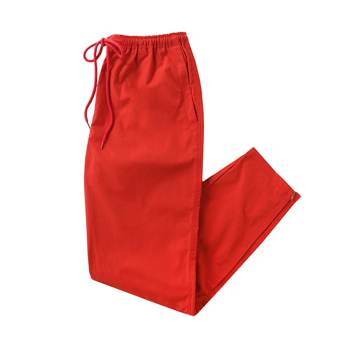 stretch zip pants - red