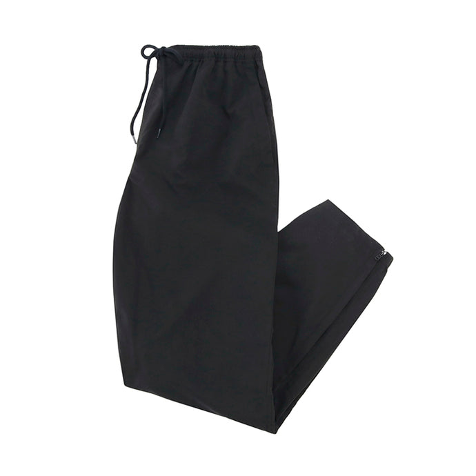 stretch zip pants - black