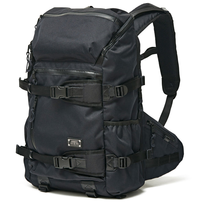 cordura dobby 305d round zip back pack black