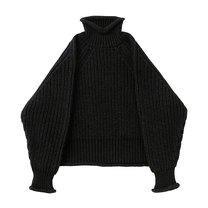 BATONER CHUNKY SIGNATURE TURTLE NECK - BLACK