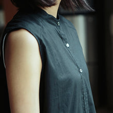 画像をギャラリービューアに読み込む, 【PRE ORDER】otii original OSK nosleeve shirts dress - black