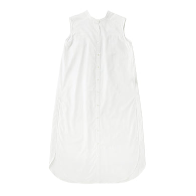 【PRE ORDER】otii original OSK nosleeve shirts dress - white