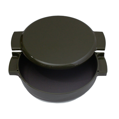 enameled cast iron pan