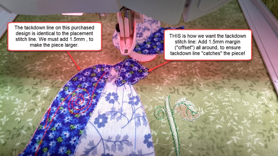 On The Importance of Tracing and Sizing Appliqué Pieces Accurately