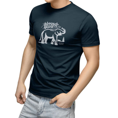 mens navy blue organic cotton elephant shirt