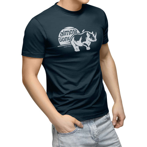 mens navy organic cotton rhino shirt