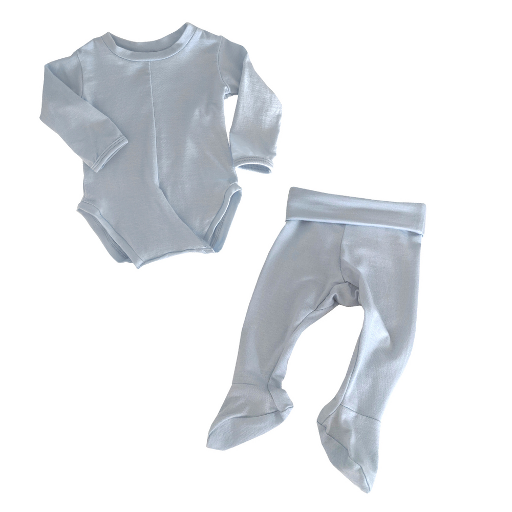 No-Snap Peasy Top + Bottom Set (0-3 months)