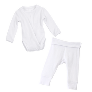 No-Snap Peasy Top + Bottom Set (3-6 months)
