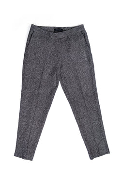 Luisa Trousers - Fishbone Wool and Silk
