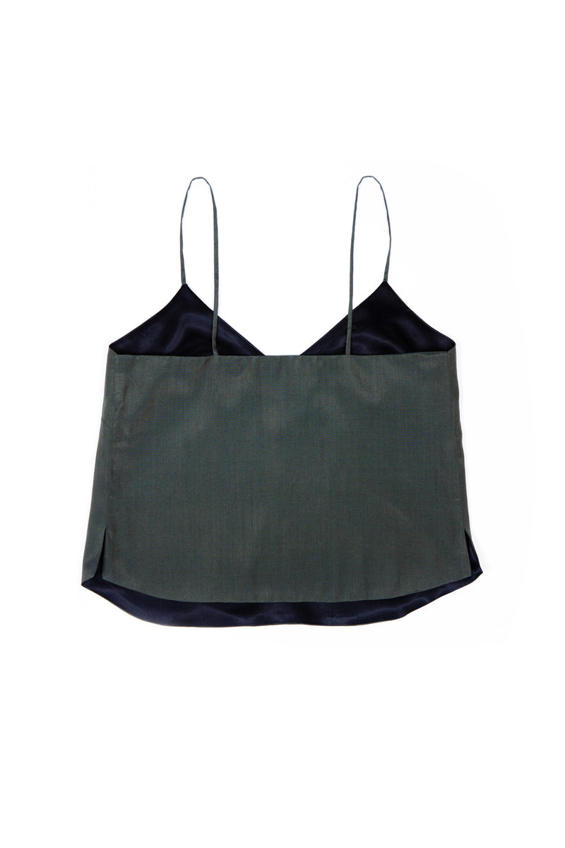 Luxury Camisole No 1 - Green Silk & Cotton