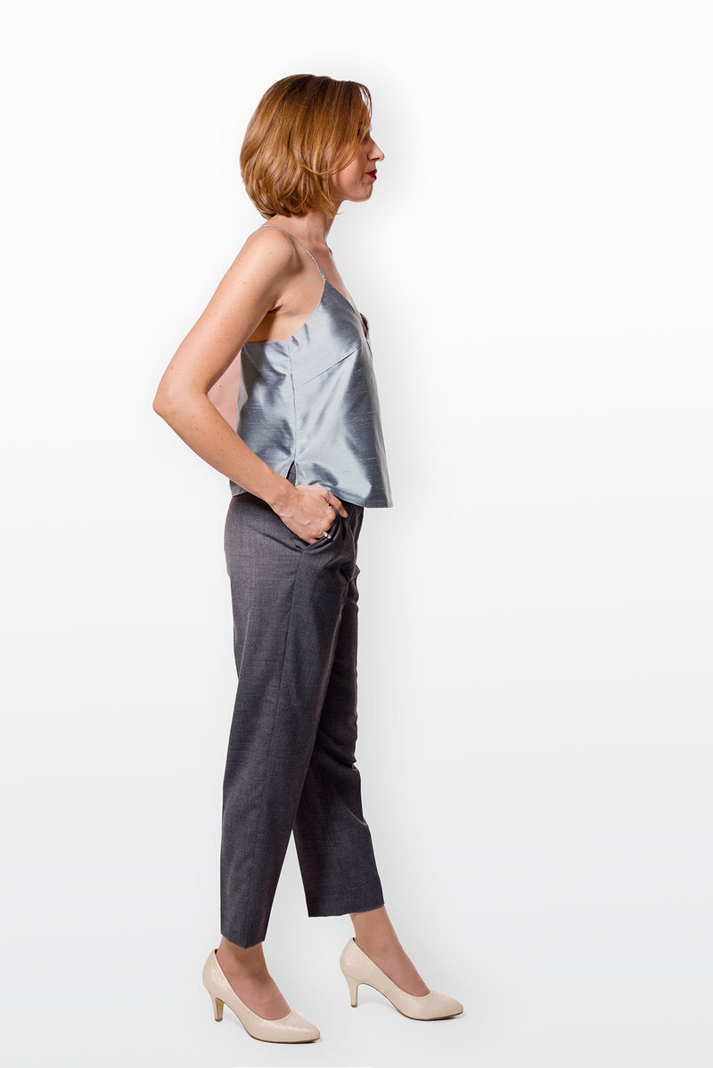Camisole No 1 - Ice Blue Silk