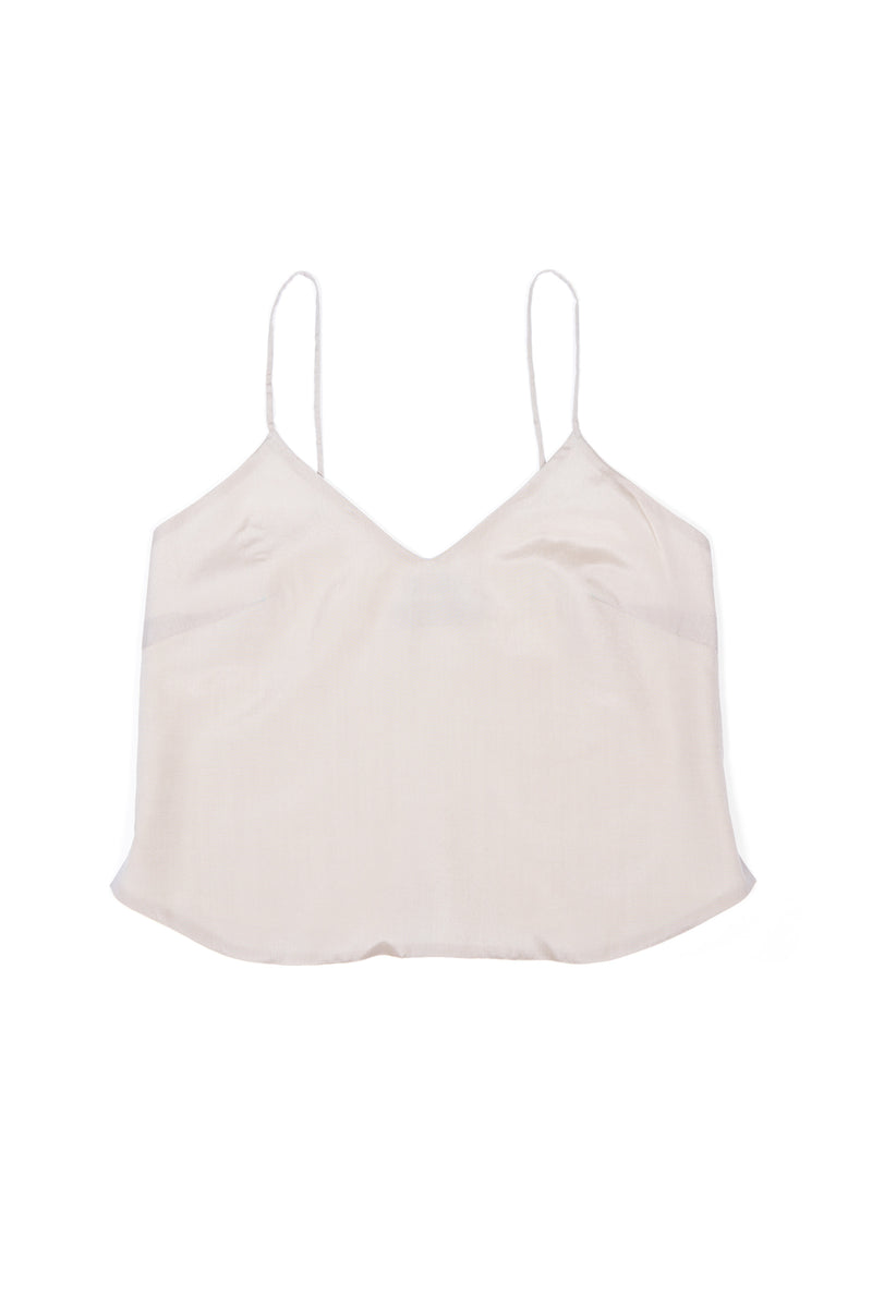 Luxury Camisole No 1 - Sand, Silk & Cotton