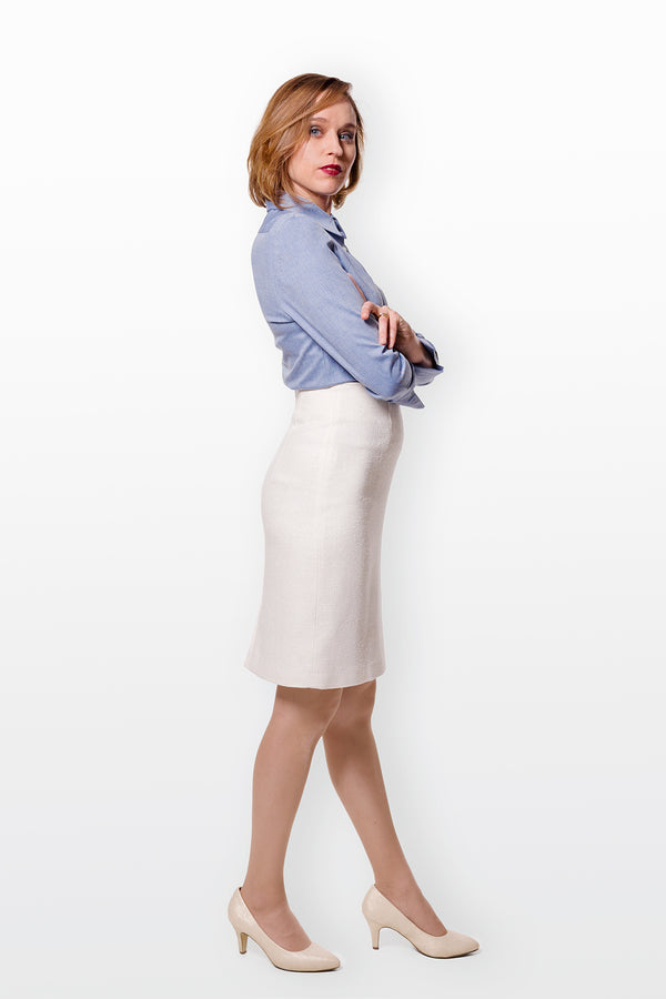 Pencil Skirt - Sheer White
