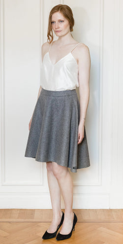 Skirt No 2 - Gray Wool