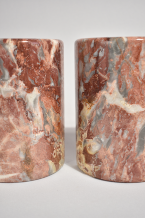 Pink Marble Bookends