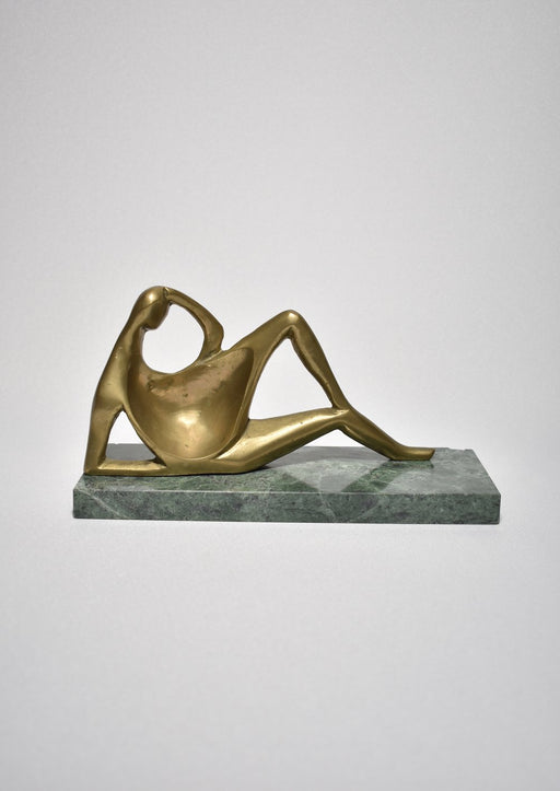 Bronze Reclining Figure Sculpture
