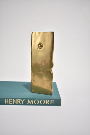 Brass Cubist Bookends