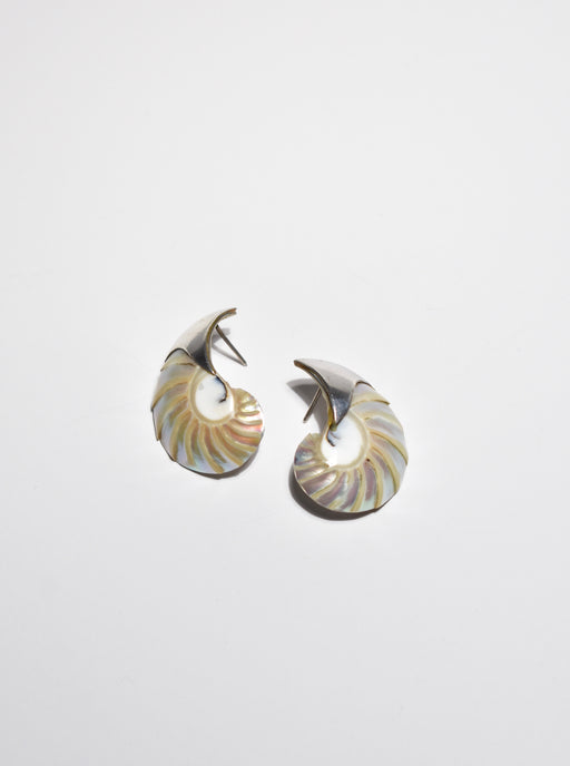 Sterling Shell Earrings