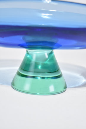 Blue Pedestal Bowl